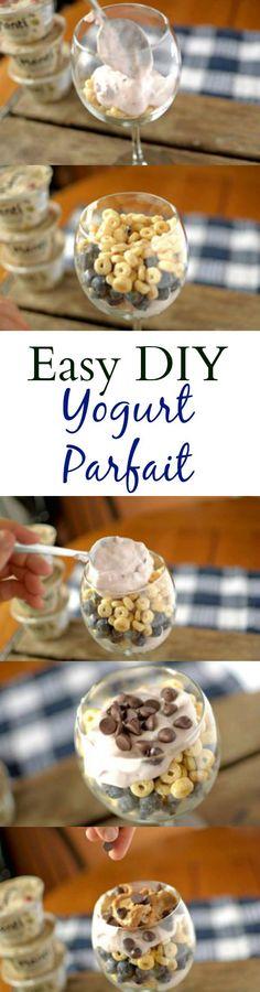 Start your day with this tasty and easy-to-make DIY Yogurt parfait! Powered with Plenty Greek Yogurt! #healthy
