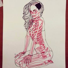"With his ""X-ray Series"", the French illustrator Chris Panda has fun to turn famous cartoon characters in anatomy lesson, drawing with great precision the Skeleton Drawings, Skeleton Art, Art Drawings, Favorite Cartoon Character, Character Art, Character Design, Anatomy Sketches, Anatomy Drawing, Human Anatomy Art"