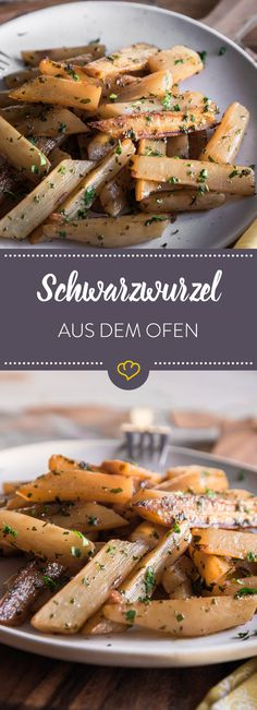 Einfach unkompliziert: Schwarzwurzelgemüse aus dem Ofen Golden brown salsify from the oven tastes fantastic as a side dish to meat and Co. or as a fine, light main course. Vegan Breakfast Recipes, Vegetarian Recipes, Healthy Recipes, Breakfast Meat, Paleo Dinner, Dinner Recipes, Paleo Pizza, Paleo Vegan, Convenience Food