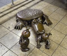 100+ Unique Bronze Statues Occupy the NYC Subway Tom Otterness Bronze Sculptures