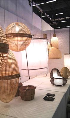 From Elle Norway. Light fittings from Straw baskets