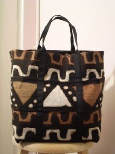 Traditional Mudcloth African fabricTote Bag | ecm406 - Bags ...