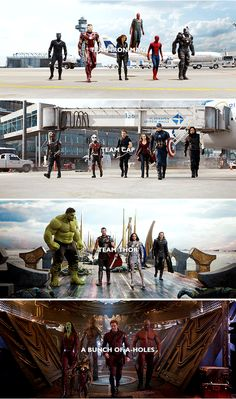 That's what we call ourselves. We're sort of like a team. #marvel<<HELL YEAH