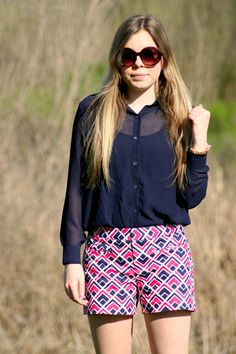 A pair of Gap shorts as featured on the blog Madison Martine.