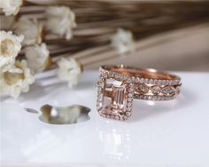 Hey, I found this really awesome Etsy listing at https://www.etsy.com/listing/238191887/3pcs-wedding-ring-set-solid-14k-rose