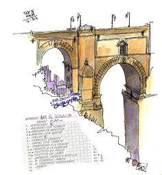 Urban Sketchers Spain. El mundo dibujo a dibujo.: ¡AL TAJO DIBUJANTES! HACIENDO LA RONDA POR LA SIERRA DE MÁLAGA