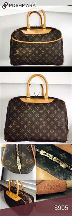 Authentic 🌺Louis Vuitton 💯Deauville Monogram bag Authentic LV Deauville, specially designed to be practical, & to keep you fully organized w/ plenty of pockets for the on the go organized lifestyle - Many pockets w/ clean interior it features double-zip closure - Super shiny Hardware,clean inside and outside - Code MB0042 - code is perfectly visible - not faded like many - This is a great find! Rare opportunity to own a great Louis Vuitton bag - Great Quality bag and Super stylish - Made…