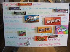 WORDS WITH CANDY BARS-16th Birthday Card - Female