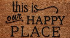Our Happy Place Welcome Mat