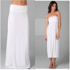 DIY Maxi Convertible Dress (OMG I think my sewing skillz are actually up to making this dress/skirt. it looks so simple. Now I'm dying to make one.... or five.)