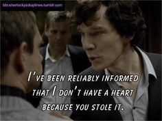 If you love Sherlock Holmes, this pick-up line is for you.
