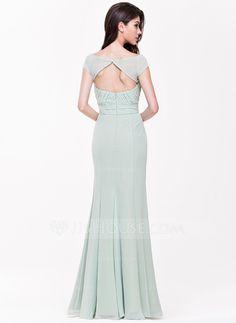 A-Line/Princess Sweetheart Floor-Length Chiffon Bridesmaid Dress With Ruffle (007068367)