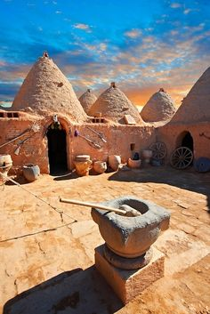 Ancient Architecture - Beehive adobe buildings of Harran, Anatolia, Turkey. Harran was a major ancient city in upper Mesopotamia whose site is near the modern village of AltınbaÅak, Turkey. by Funkystock Places Around The World, The Places Youll Go, Places To See, Around The Worlds, Beautiful World, Beautiful Places, Amazing Places, Architecture Antique, Architecture Art