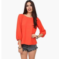 A6013 new Summer Elegant Solid women blouse Half sleeve O-Neck Cute Bow Shirts casual Tops Blusas