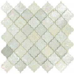April Shower Silver Glossy & Iridescent Glass Tile
