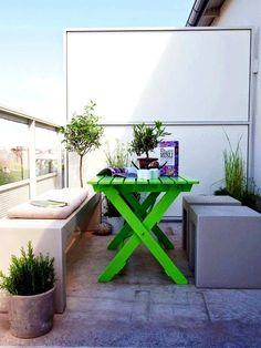muebles de exterior renovados con color fluor