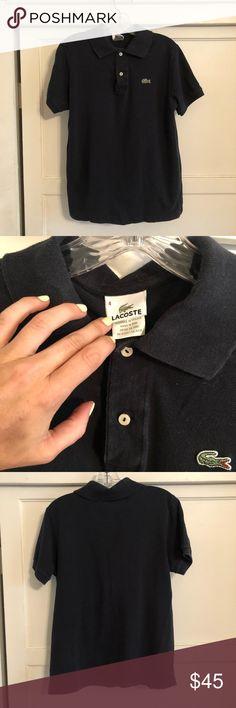 18c843d24e Men's Lacoste polo! Gently used men's black Lacoste polo! Lacoste Shirts Polos  Polo Lacoste