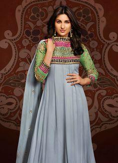 #ParineetiChopra in #designer #Anarkali #churidar