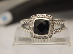 SOLD.....SOLD.....SOLD....BEST OFFERED ACCEPTED....SHARE & LIKE US ON FACEBOOK....AFFORDABLE DAVID YURMAN AMETHYST (BLACK) ALBION RING & DIAMONDS MAKE OFFERS #DavidYurman