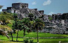 Tulum Mayan Ruins by the Caribbean Sea.