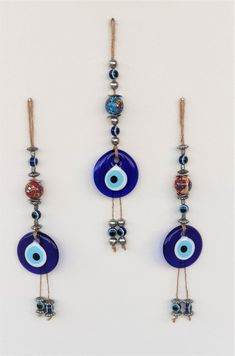 Clay Wall Art, Greek Evil Eye, Flower Letters, Hand Of Fatima, Hamsa, Stones And Crystals, Gifts For Her, Wall Decor, Beads