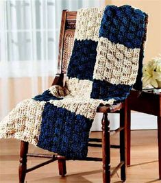 FREE Pattern from Joann.com | Create this cozy Basketweave Afghan