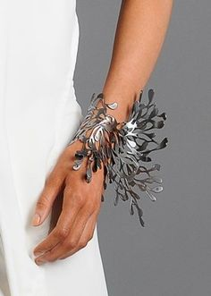 I would poke someone's eye out with this bracelet, ha.  Thallus Bracelet ~ like a living sculpture on her wrist!