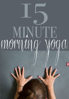 15 Min Morning Yoga to Wake Up! Here is a 15 minute gentle flow to wake the body up. It's ideal for the morning, though it'd be good any time of the day! #morningyogasequence #greatmorningworkout #greatstretchingexercise