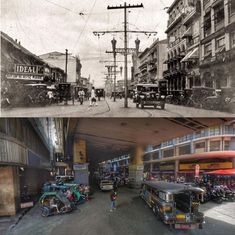 Dito, Noon: Rizal Avenue corner Carriedo Street, Sta. Cruz, 1920s x 2010s. #kasaysayan Present Day, Then And Now, Philippines, The Past, Street View, Island, History, Current Events, World