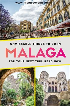 Malaga, Spain Travel Guide: The Best Things To Do, Food and More. - Awesome things to do in Malaga, Spain. Travelling to Malaga? Don't miss this guide, packed with b - Spain Travel Guide, Europe Travel Tips, European Travel, Travel Guides, Travel Destinations, Euro Travel, Holiday Destinations, Italy Travel, Cool Places To Visit