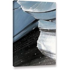 Linda Parker Frozen Mountain Gallery-Wrapped Canvas, Size: 24 x 32, White