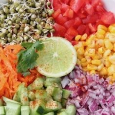 Sprouted Mung Bean Salad - Ministry of Curry Bean Sprout Salad, Sprouts Salad, Bean Sprouts, High Protein Meal Plan, High Protein Recipes, Bean Salad Recipes, Mung Bean, 2000 Calorie Diet, How To Make Salad