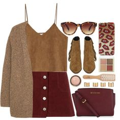 Untitled #3497 by monmondefou on Polyvore featuring moda, Violeta by Mango, Goroke, Miss Selfridge, Yves Saint Laurent, MICHAEL Michael Kors, Maison Margiela, Forever 21, Etude House and By Terry