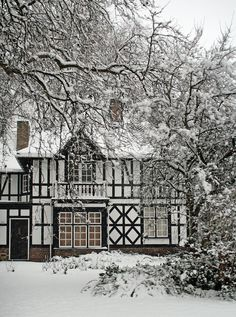 (via It's all about winter / ukimages:It's Almost All Black And White. (by meg_williams)Peterborough, England) Snow Scenes, Winter Scenes, Brighton, Tudor Style, English Countryside, Winter Time, Winter Snow, Surrey, Palermo