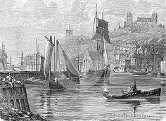 Port of Whitby, engraving from Selections from the Journal of John Wesley, 1891.