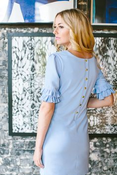 The Camilyn Beth Ophelia Dress in Periwinkle | Spring 2017 | Shannon Kirsten Photography | Oxford Exchange