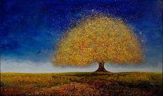 "Melissa Graves Brown ""Dreaming Tree"" in Blue."