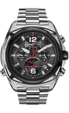Bulova Watches 98B227 - Reloj para hombres, correa de acero inoxidable color plateado