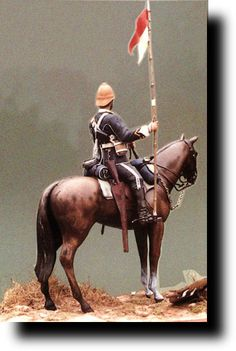 British Empire: Armed Forces: Units: British Cavalry: 1822 - Lancers: Model of Trooper 1879 Military Figures, Military Art, Military History, War Image, Men In Uniform, British Colonial, Zulu, Toy Soldiers, British Army