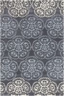 The rugs in the Surya Mamba collection are truly unique. Fun patterns in vibrant colors, these rugs are hand tufted from 100% polyester making the soft and durable. Add one to any space to give it a special personality. Sample rugs are non-returnable. However, if you purchase a sample and then subsequently buy a 5' x 8' or larger rug from the same collection, we will credit you for the full purchase price of the sample rug.
