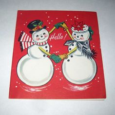 Vintage Christmas Greeting Card with Cute by grandmothersattic, $3.95