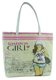 Plaj Çantası - Otel Çantası - Beach Bags by Hasan Akdogan, via Behance Printed Tote Bags, Girly, Behance, Reusable Tote Bags, Prints, Women's, Girly Girl