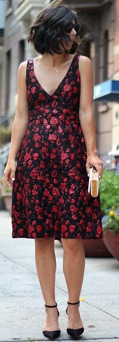#fall #thistimetomorrow #outfits | Flloral Midi Dress