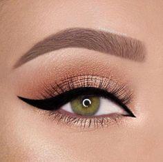makeup looks;eye makeup tut… – Make Up Time Gold Eye Makeup, Natural Eye Makeup, Makeup For Brown Eyes, Eyeshadow Makeup, Eyeliner, Makeup Monolid, Eyeshadow Base, Eyeshadow Palette, Colorful Makeup
