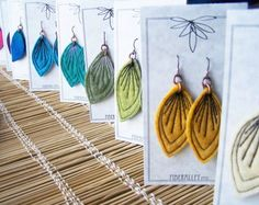 Project inspiration : Gorgeous felted earrings by fiberalley — with Allison H Astridge. Sold at the annual Roxham Woolgathering in St-Bernard-de-Lacolle