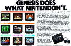 The infamous SEGA ad that poked fun at the Super Nintendo with the Genesis during the 90s