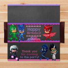 PJ Masks Birthday Candy Wrapper