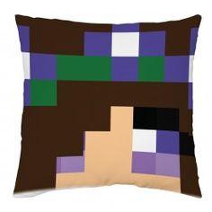 Anett fej - díszpárna Minecraft, Throw Pillows, Toss Pillows, Cushions, Decorative Pillows, Decor Pillows, Scatter Cushions