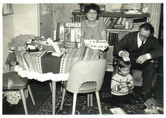 Me with my grandparents from Amsterdam, 1965 My first record + player