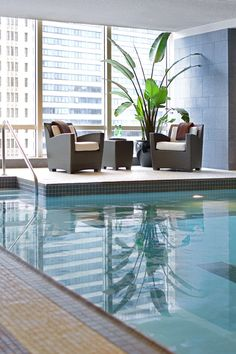 In addition to a pool, there's a massive spa and health club at the hotel. #Jetsetter Trump Hotel Chicago – Chicago, Illinois